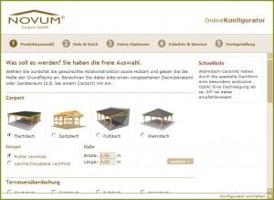 Novum Carport Online Konfigurator