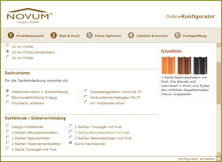 TerrassenUberdachung Holz Konfigurieren ~ Carports online konfigurieren